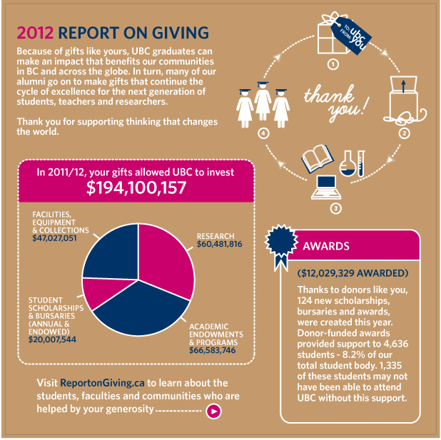 2012 Report on Giving Infographic