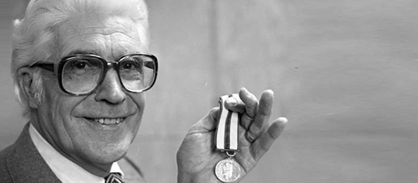 Robert Osborne with medal