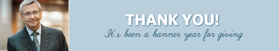 Thank you! It's been a banner year for giving