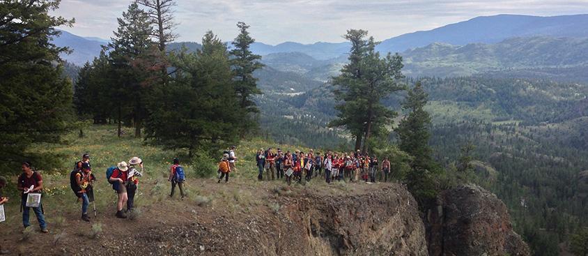 Students attend Field School in 2014.