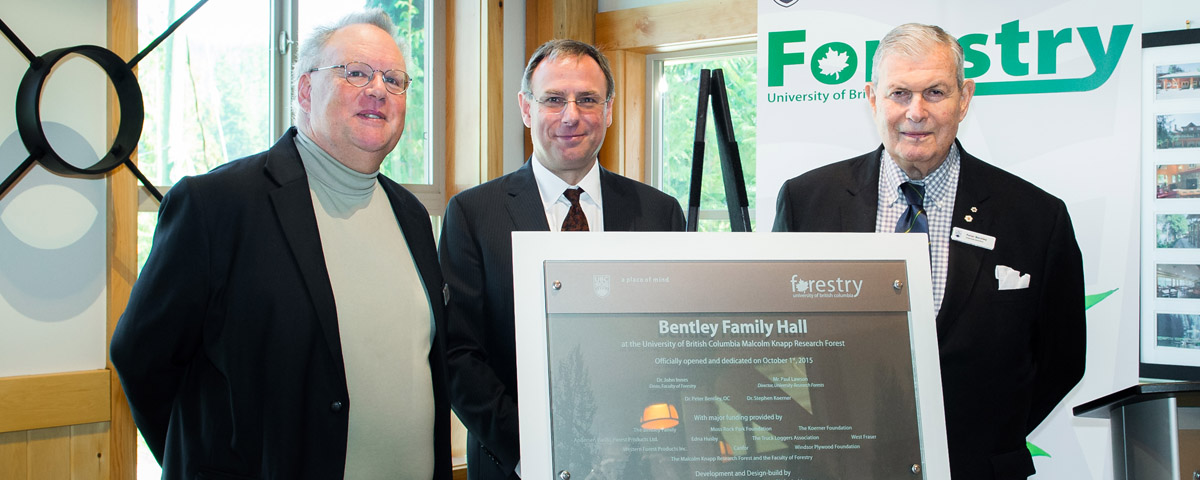 $1M Largest Ever Gift To UBC Forestry