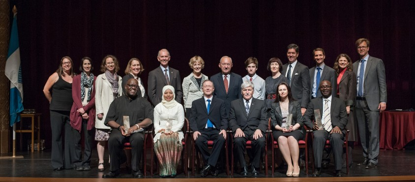 Peter A. Allard with the Allard Prize Committee, 2015 Recipients and Honourees