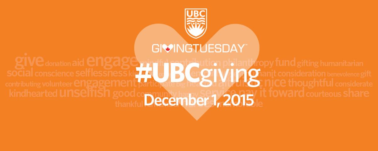 Celebrate GivingTuesday with UBC!