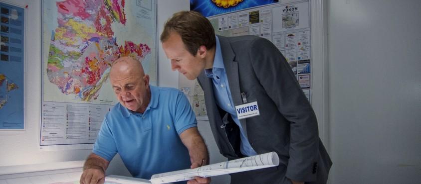 Charles Fipke, left, with Fipke Professor in Alzheimer's Research Haakon Nygaard: Photo: Brian Kladko