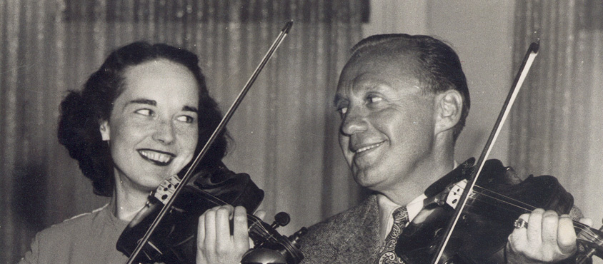 Mary Tierney (playing the violin with JBenny)
