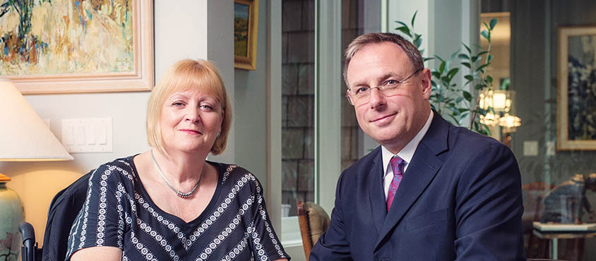 Jill and Dr. John Innes. Photo: Martin Dee