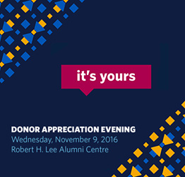 Donor Community Event Celebration: Save the Date