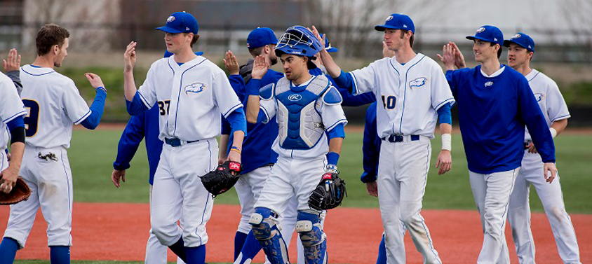 UBC Varsity Baseball team on the field