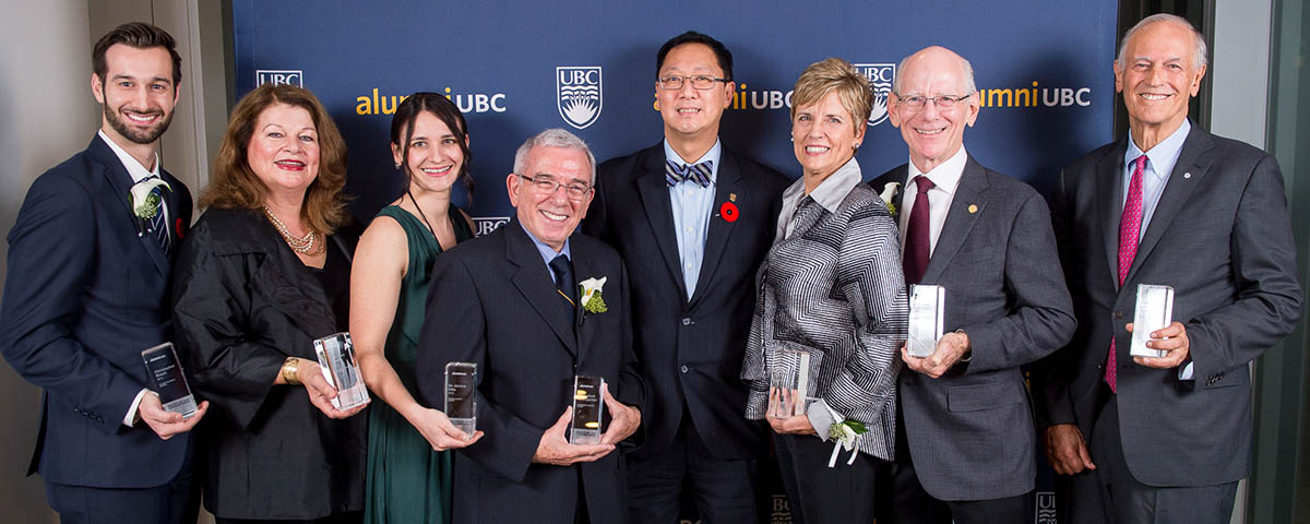 Congratulations to our 2016 alumni UBC Achievement Award Winners!