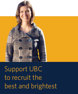 Support UBC to recruit the best and brightest