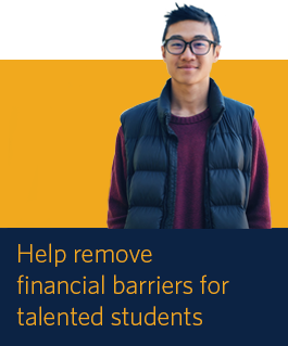 Help remove financial barriers for talented students