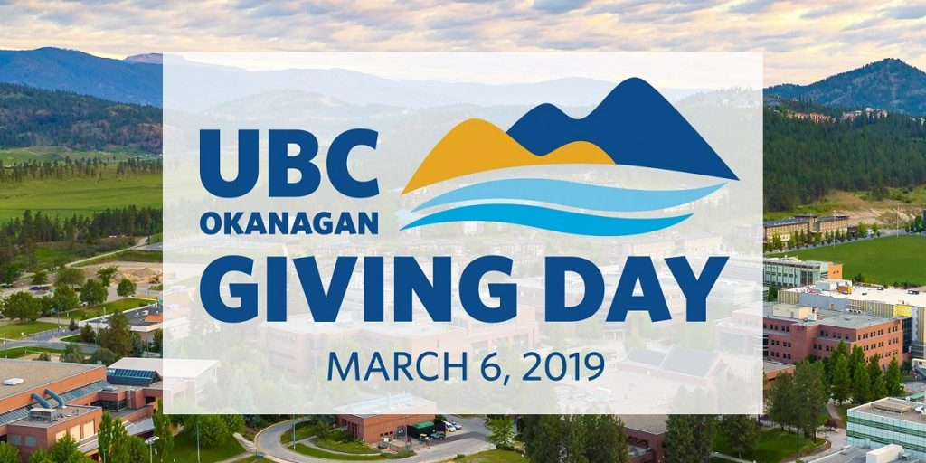 UBCO Giving Day: March 6, 2019