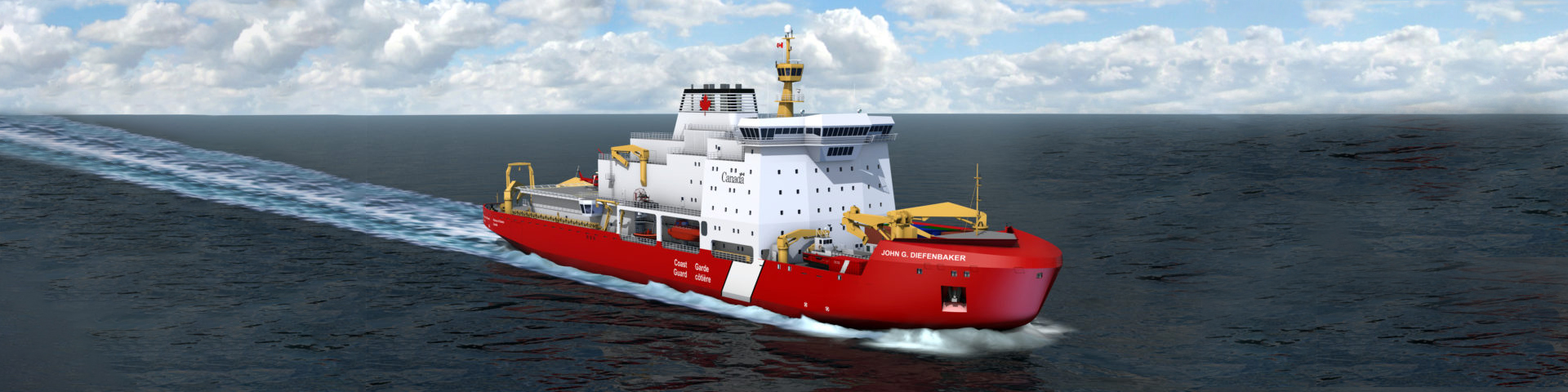 VardMarine designs icebreakersand ice-capable ships such as the Polar Icebreaker, currently proposed to be built by Seaspan. Credit: Vard