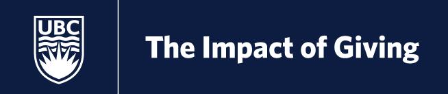 UBC   Impact of Giving