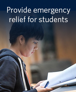 Provide emergency relief for students